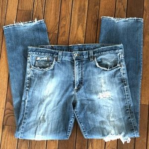 Lucky Brand Sz 36 Perfectly Tattered Men's Jeans
